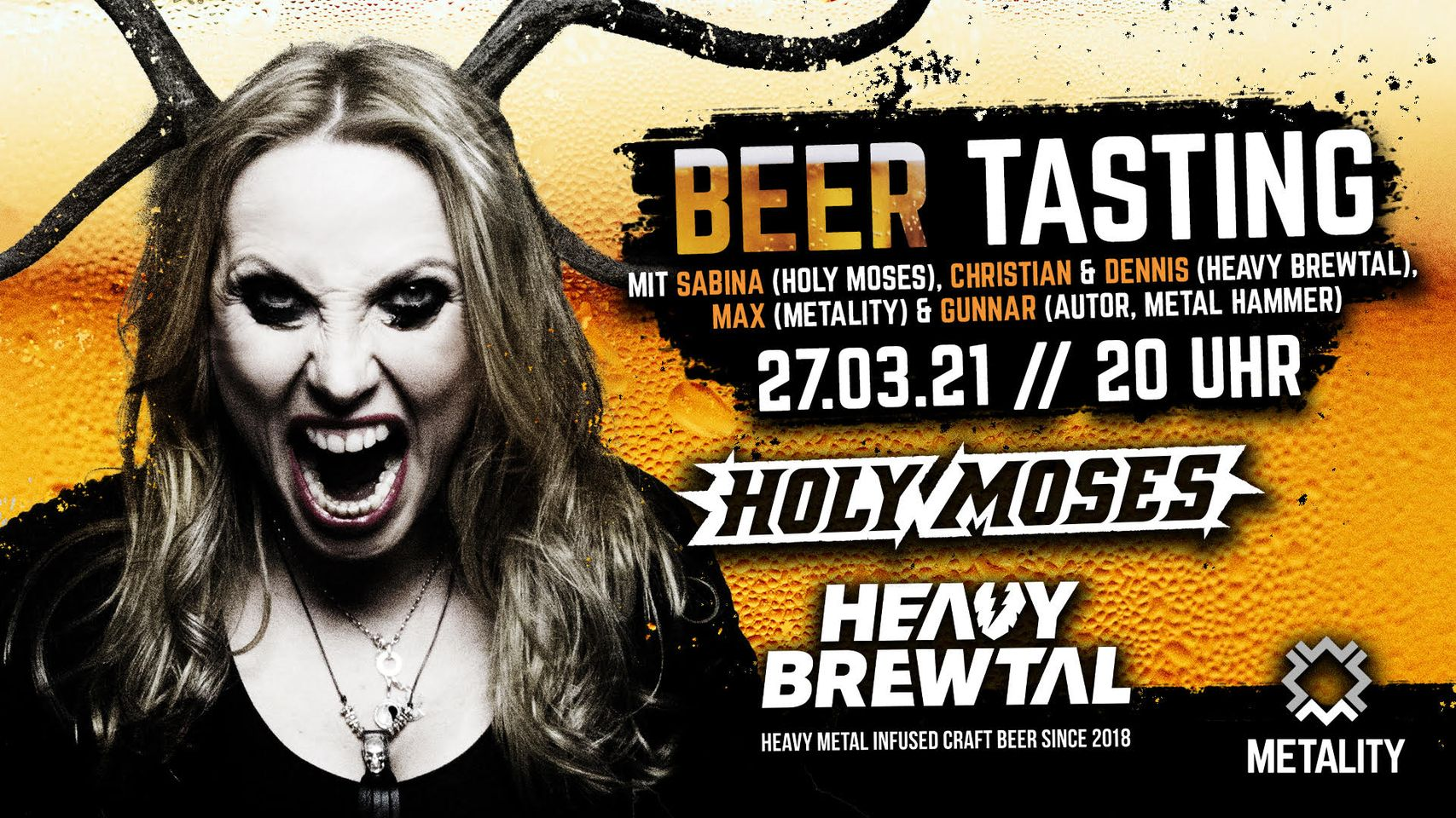 4. Metality Beer Tasting mit Heavy Brewtal & Special Guest
