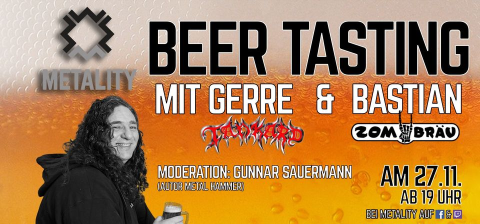Metality Beer Tasting mit Zombräu & Special Guest